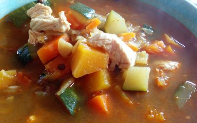 Soupe repas lentilles et légumes à la marocaine